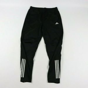 Vintage Adidas Spell Out Striped Tapered Leg Pants